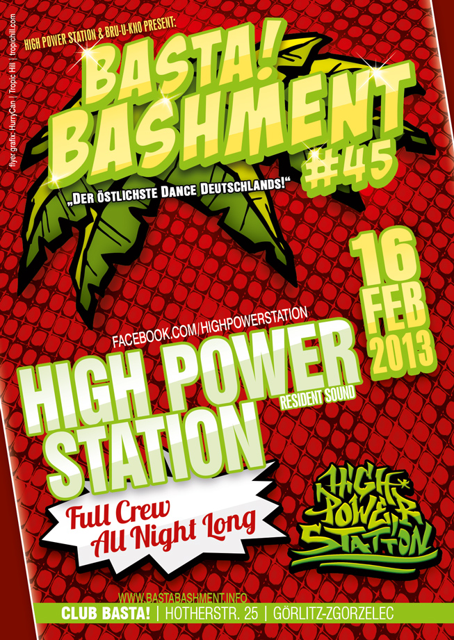 BASTA!Bashment #45 - High Power Night